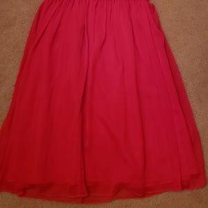 Ellen Tracy Dresses - Raspberry 1 Shoulder Dress